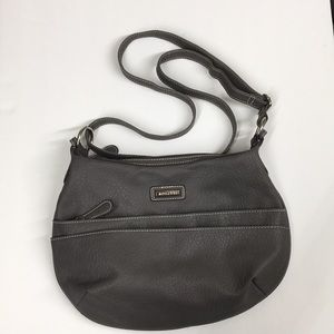 Rosetta Gray purse front zip & slip front pockets